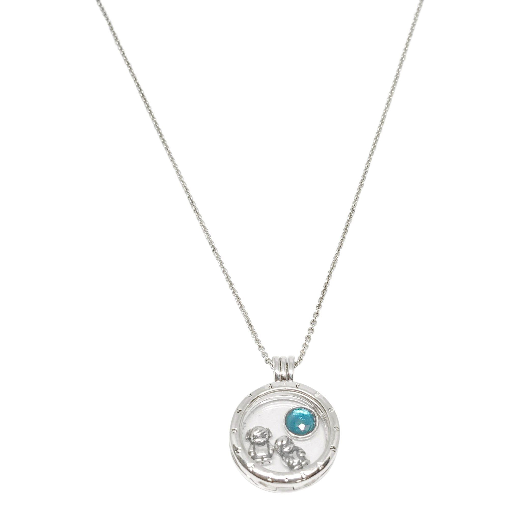 ec03242f0 Pandora Floating Locket Pendant Necklace with 3 Petite Charms Necklaces  Pandora ...