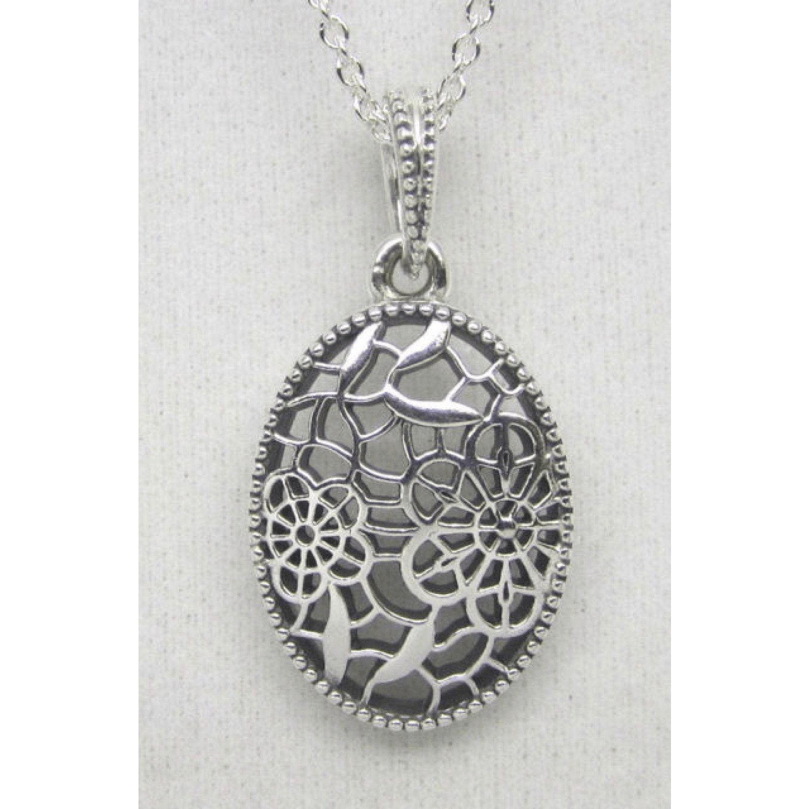 715ffa4a8 Pandora Floral Daisy Lace Pendant in Sterling Silver Charms & Pendants  Pandora