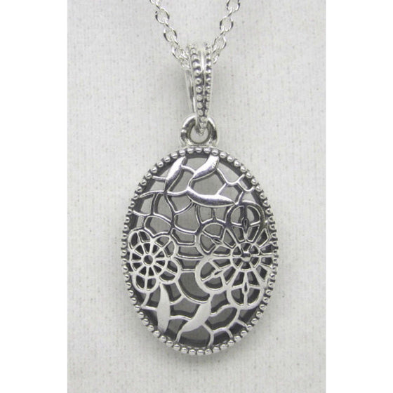 173f1a610 Pandora Floral Daisy Lace Pendant in Sterling Silver Charms & Pendants  Pandora
