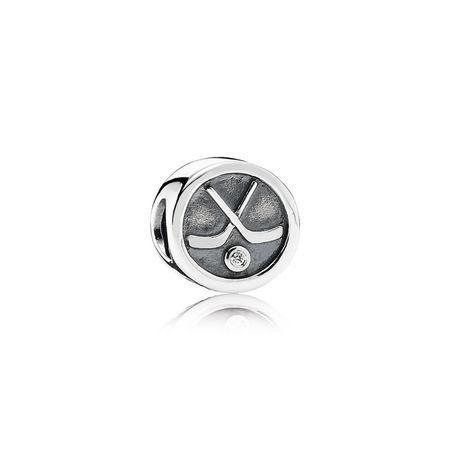 Pandora Hockey Puck Charm Charms & Pendants Pandora