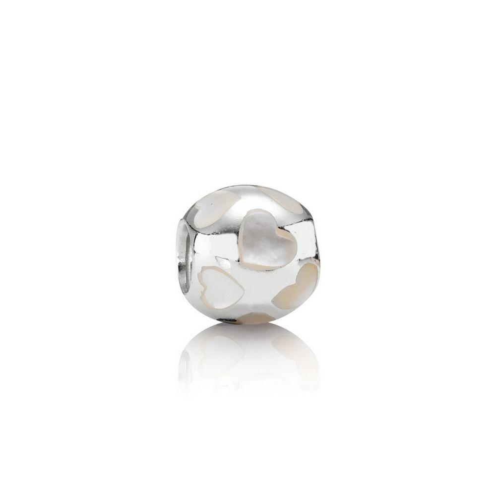 Pandora Love Me Charm with Mother of Pearl Charms & Pendants Pandora