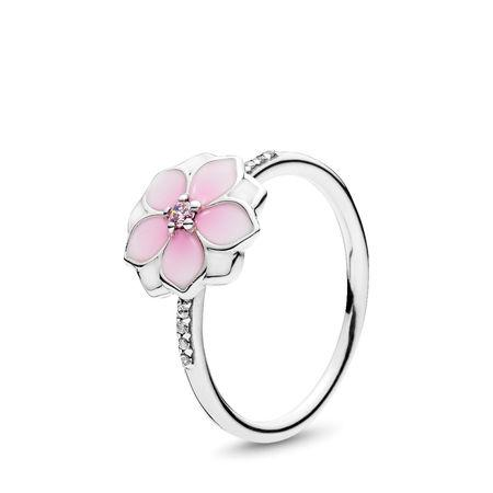 Pandora Magnolia Bloom Ring, Size 5 1/4 Rings Pandora