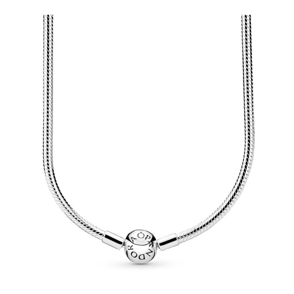 5bca312449ec7 Pandora Moments Snake Chain Necklace with Barrel Clasp
