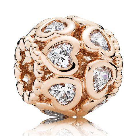Pandora Rose Love All Around Charm with Clear CZ Charms & Pendants Pandora