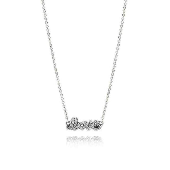 "Pandora Signature of Love Necklace, 42 cm/16.5"" Long Necklaces Pandora"
