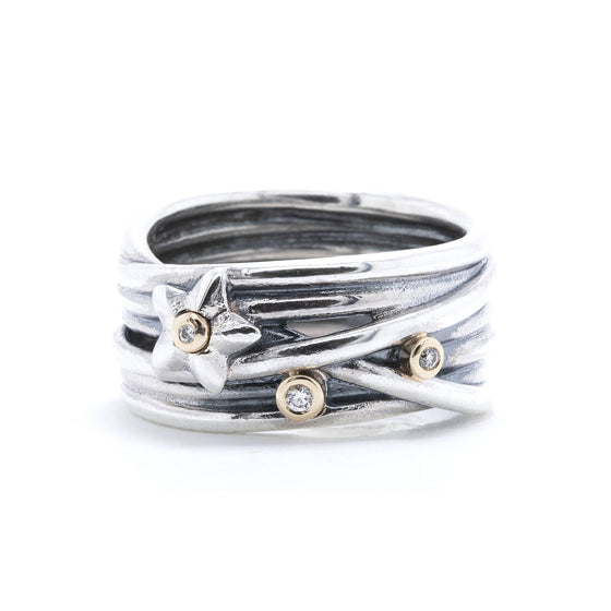 Pandora Stella Star Band Ring, Size 7 Rings Pandora
