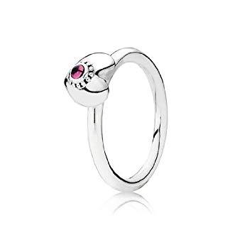 Pandora Treasured Heart Ring with Rhodolite, Size 6 Rings Pandora