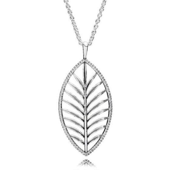 Pandora Tropical Palm Pendant Necklace, 89 cm Long Necklaces Pandora