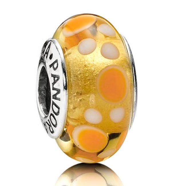 Pandora Yellow Bubbles Murano Glass Charm Charms & Pendants Pandora