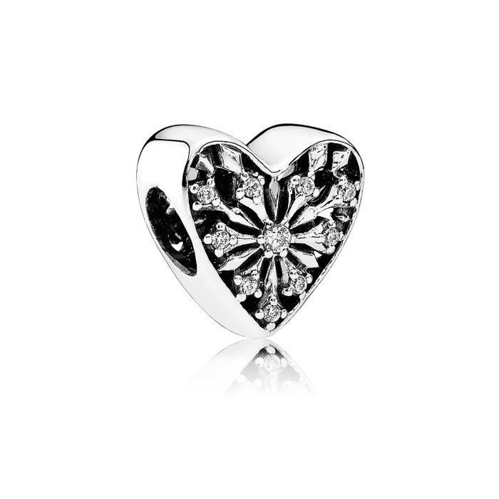 Pandora Heart Of Winter Charm With Clear Cz - Charms & Pendants