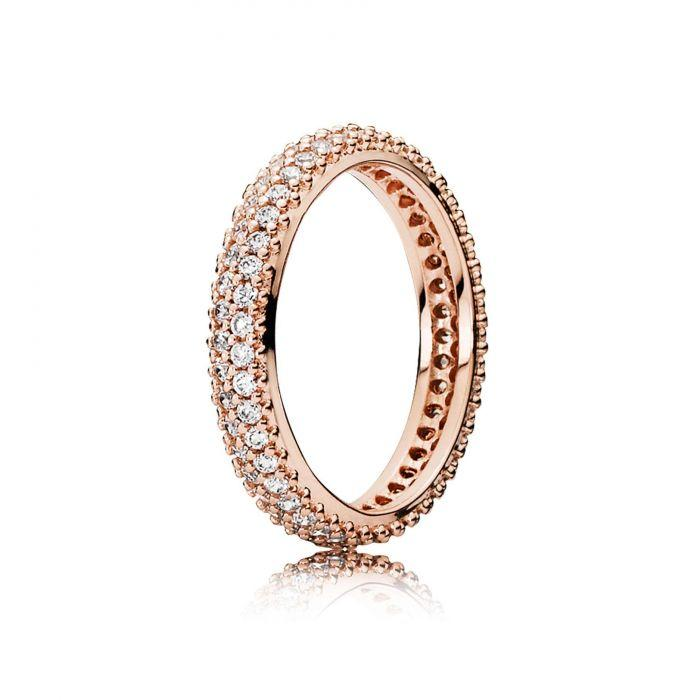 Pandora Rose Inspiration Within Ring with Clear CZ, Size 6 3/4