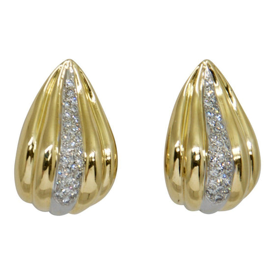Pave Diamond Clip On Earrings Earrings Miscellaneous
