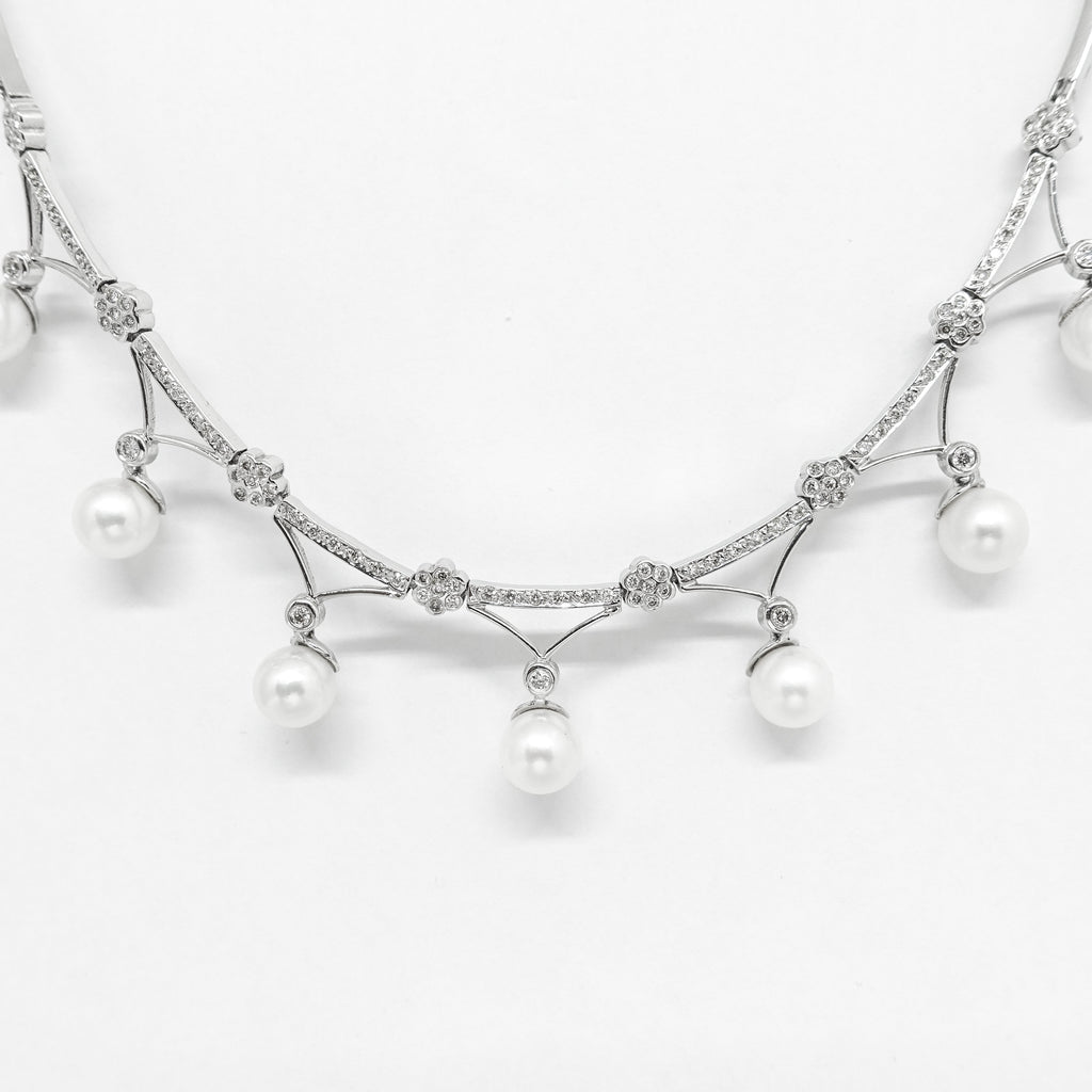 Pearl and Diamond Necklace Necklaces Miscellaneous
