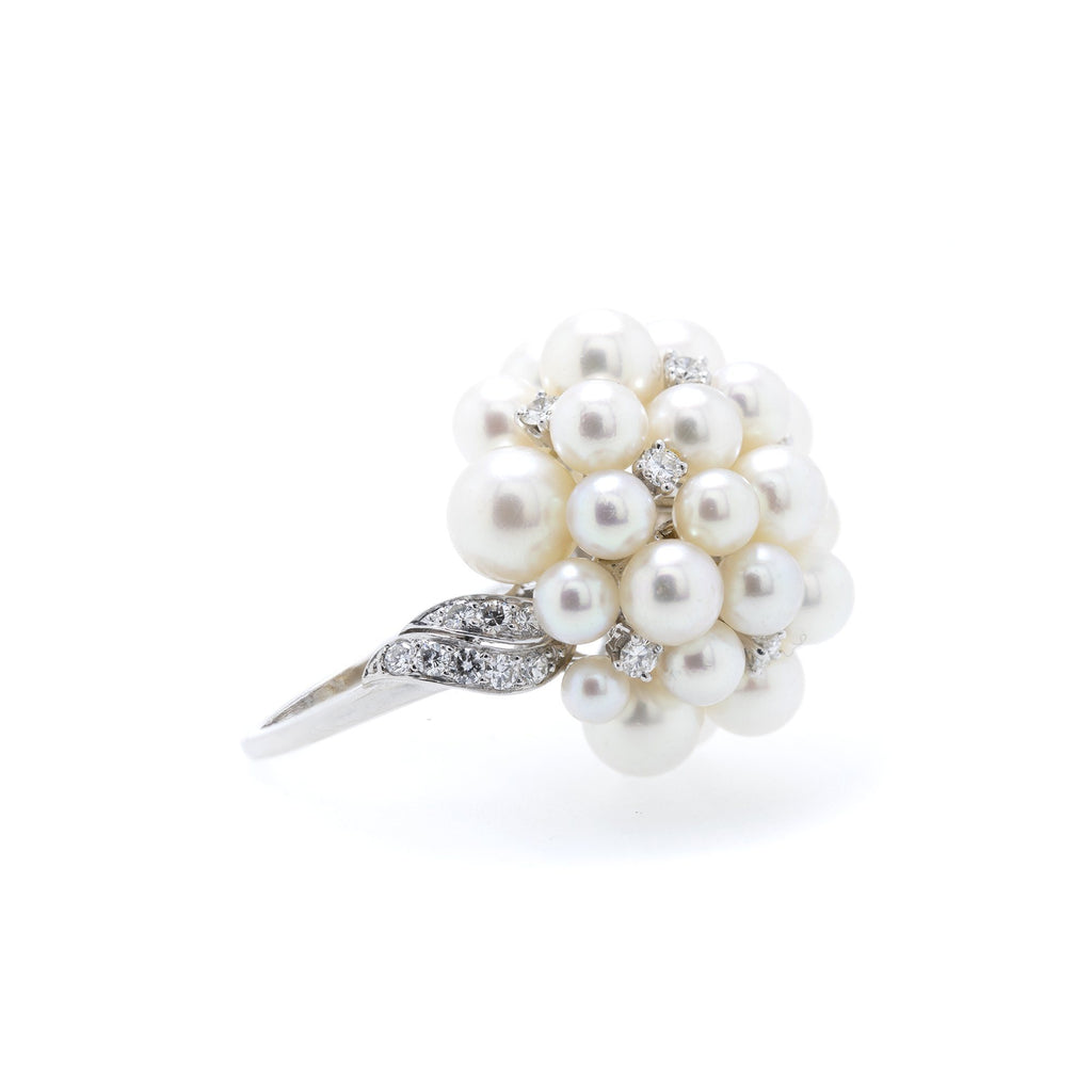 Pearl & Diamond Ring Rings Miscellaneous