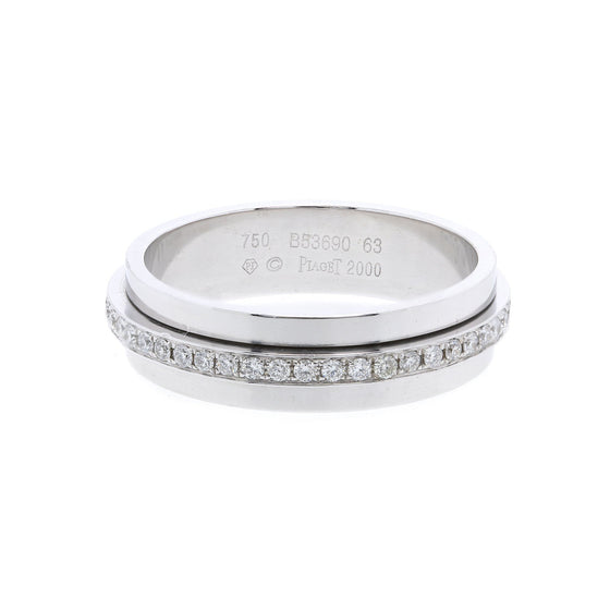Piaget 18k White Gold Possession Diamond Wedding Band Men's Jewellery Piaget