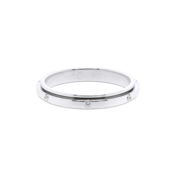 Piaget 18k White Gold Possession Diamond Wedding Band Rings Piaget