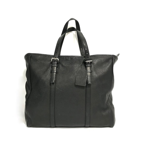 Prada Black Deer Skin Shopping Tote Bags Prada