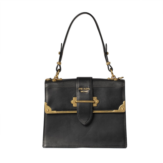 Prada City Calf Cahier Handle Bag Bags Prada