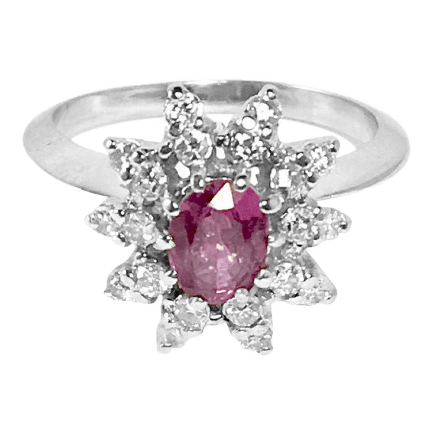 Purple Sapphire and Diamond Ring Rings Miscellaneous