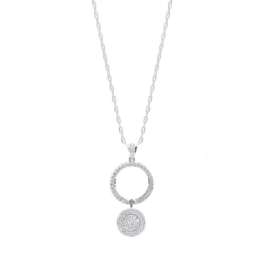 Reversible Diamond Pendant Necklace Necklaces Miscellaneous
