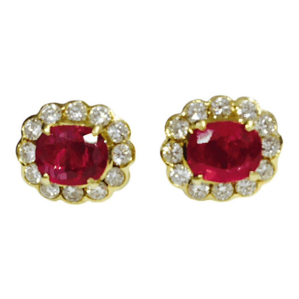 Ruby and Diamond Earrings Earrings Miscellaneous