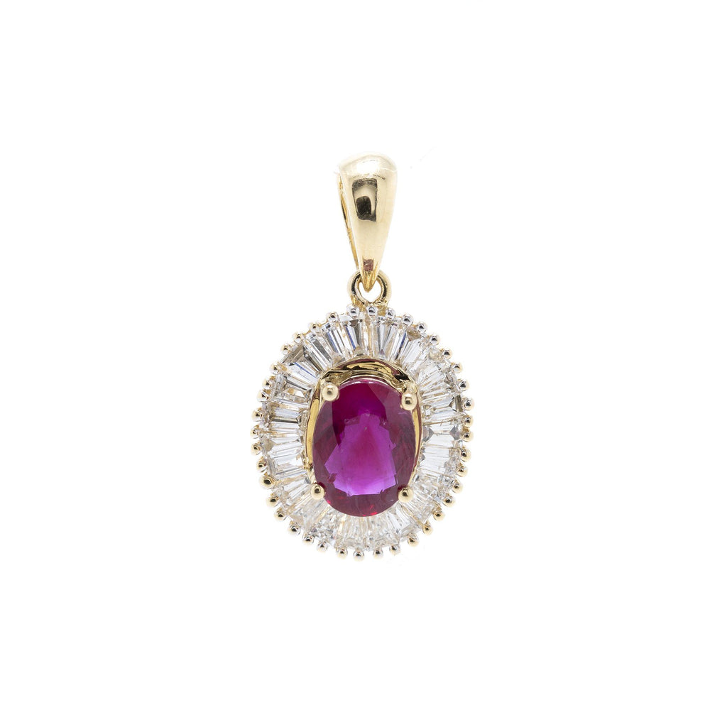 Ruby and Diamond Pendant Charms & Pendants Miscellaneous