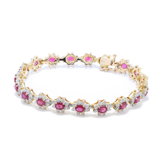 Ruby and Diamond Tennis Bracelet Bracelets Miscellaneous