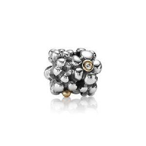 Pandora 2-Tone Daisy Charm with Diamonds Charms & Pendants Pandora