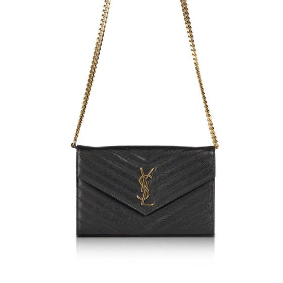 Saint Laurent Monogram Matelasse Chain Wallet Bags YSL