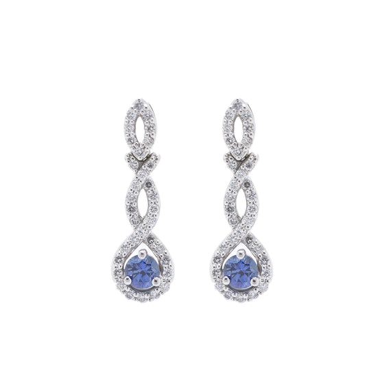 Sapphire and Diamond Earrings Earrings Miscellaneous