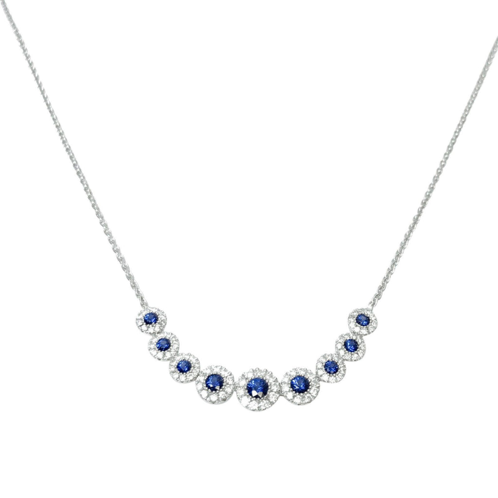 Sapphire and Diamond Necklace Necklaces Miscellaneous