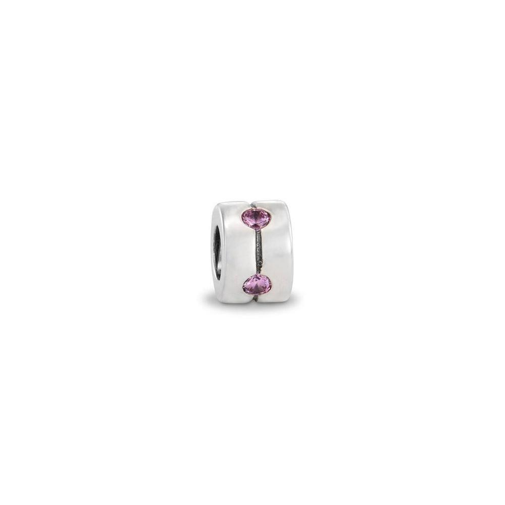 Pandora Band Charm with Pink CZ Charms & Pendants Pandora