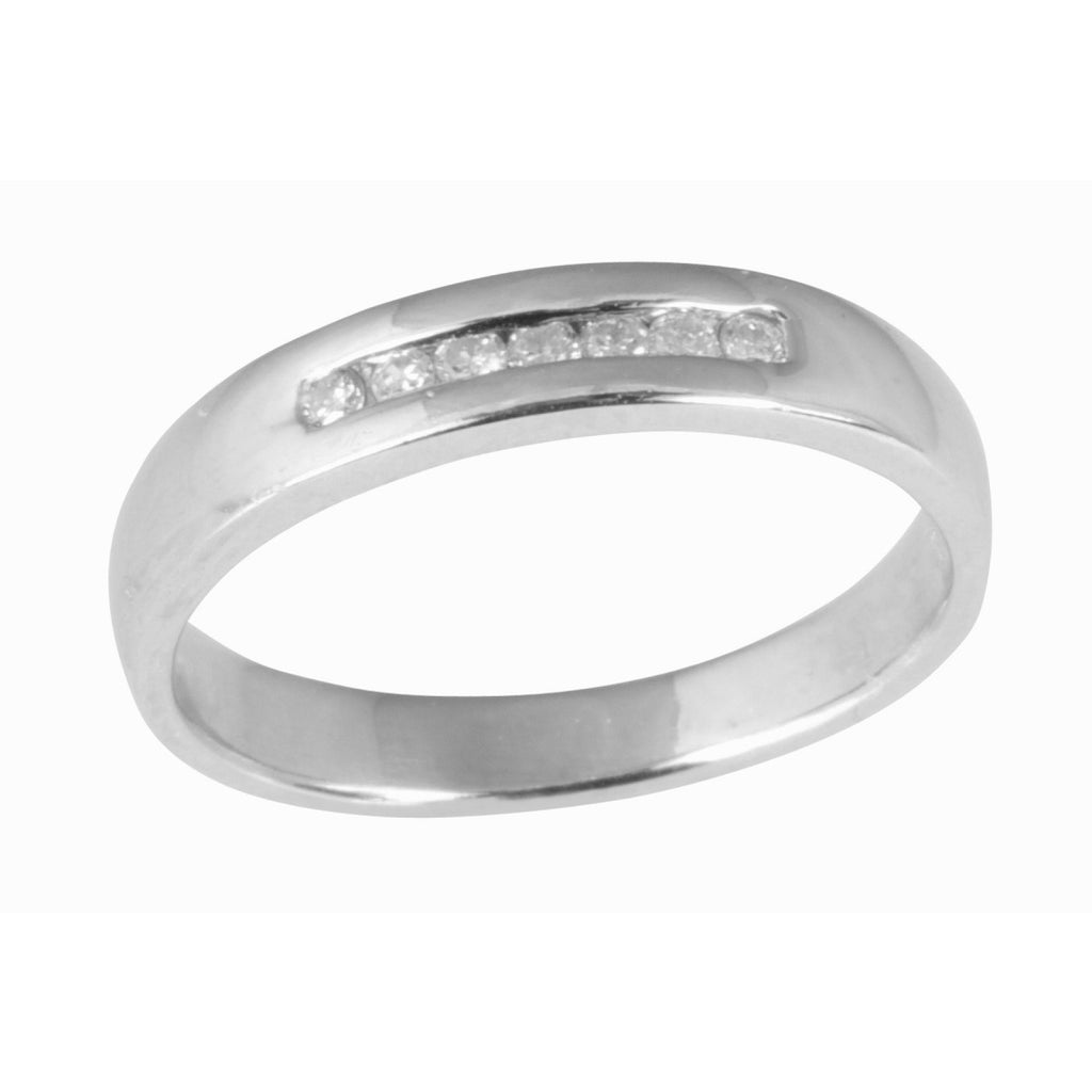 Single Row Channel-Set Diamond Band Rings Miscellaneous