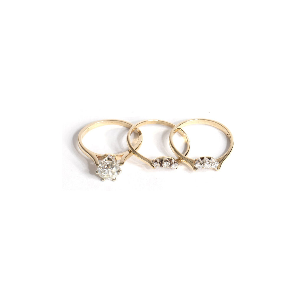 Solitaire 1.00 ct. Round Diamond Engagement Ring Set Rings Miscellaneous