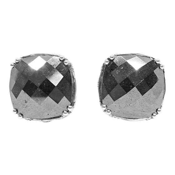 Tacori Cushion Cut Hematite Stud Earrings Earrings Miscellaneous