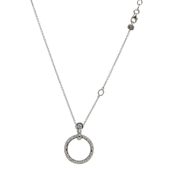 Tacori Diamond Circle Pendant Necklace Necklaces Miscellaneous