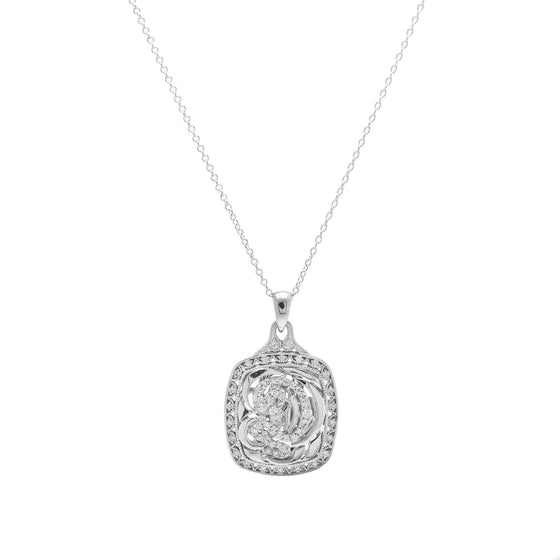 Tacori Diamond Letter 'D' Pendant Necklace Necklaces Miscellaneous