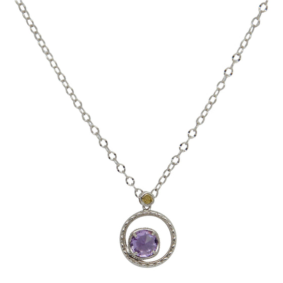 Tacori Silver Bloom Necklace with Amethyst Necklaces Miscellaneous