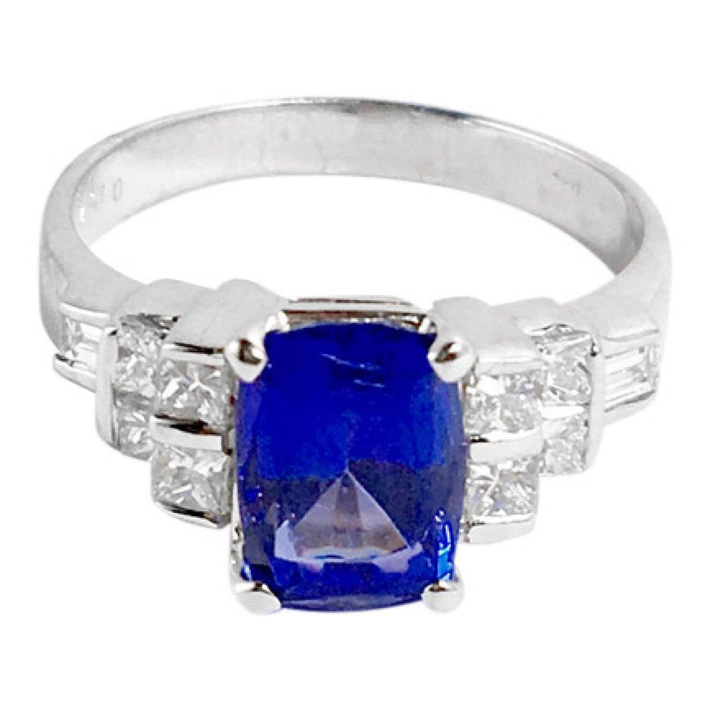 Tanzanite and Diamond Cocktail Ring Rings Miscellaneous