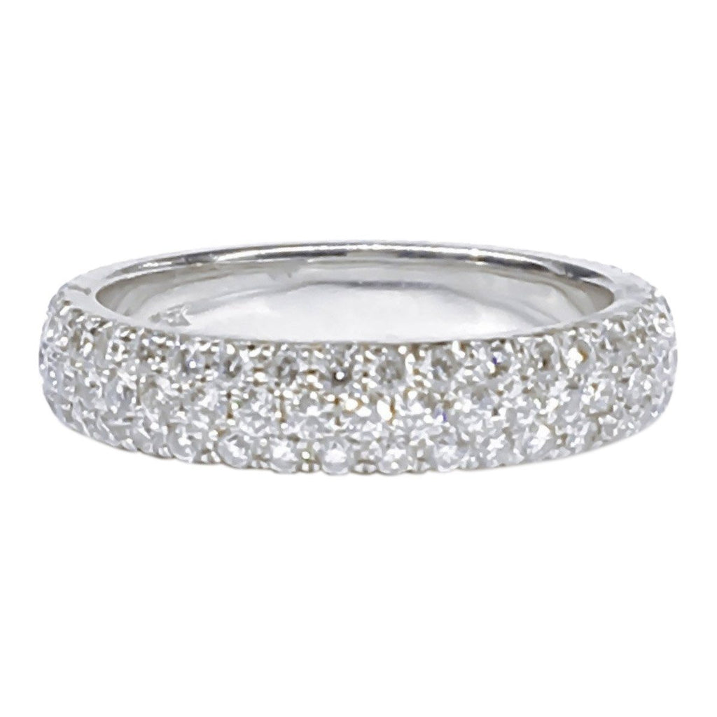 Three Row Pave Diamond Band Rings Miscellaneous