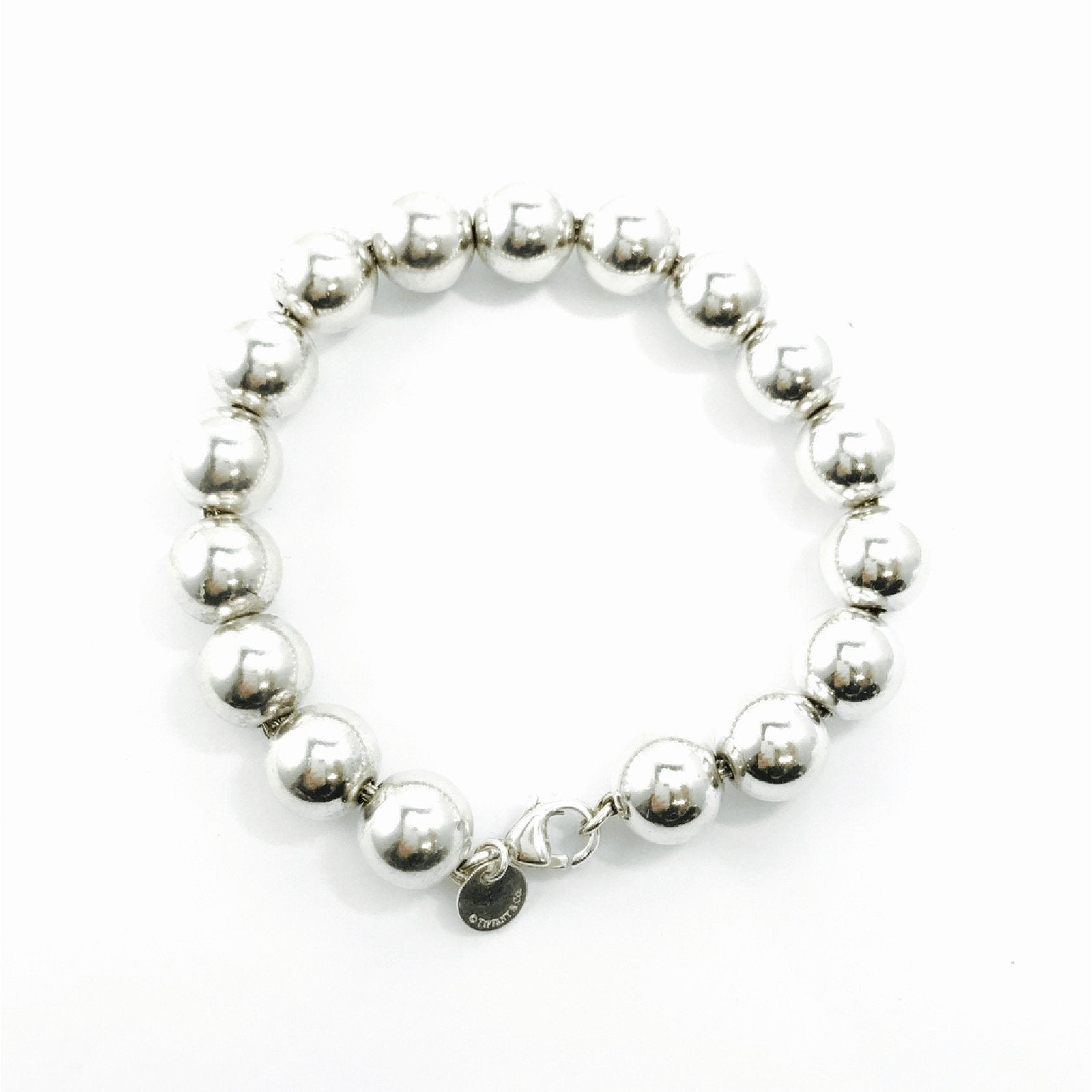 6ca6c3ce5 TIffany & Co. 10mm Bead Bracelet in Sterling Silver– Oliver Jewellery