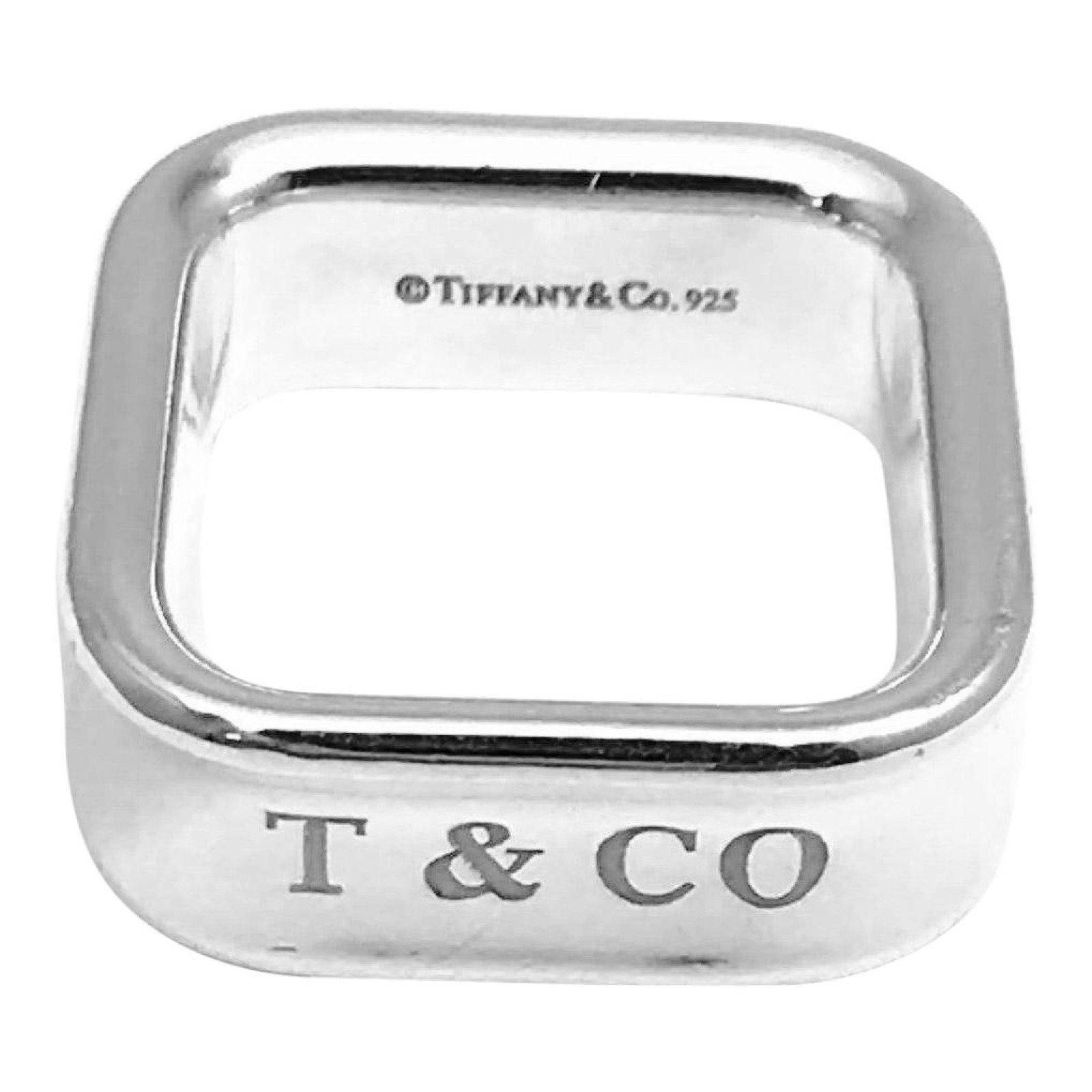 af655d9b1 Tiffany & Co. 1837 Square Ring in Sterling Silver– Oliver Jewellery