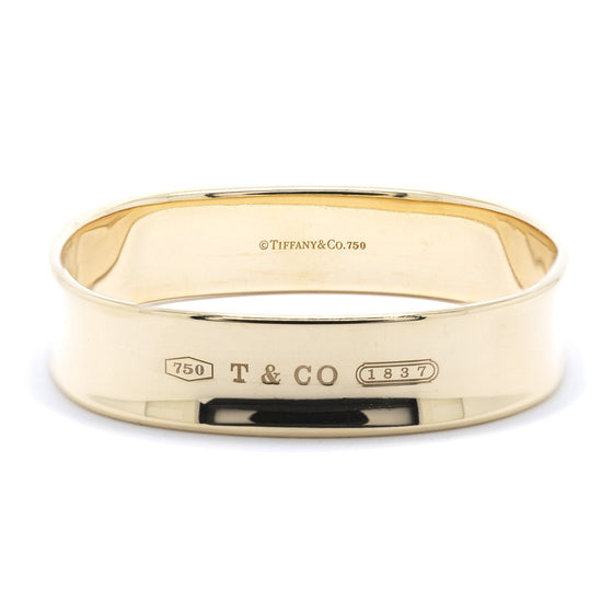 Tiffany & Co. 18k Gold 1837 Square Bangle Bracelet Bracelets Tiffany & Co.