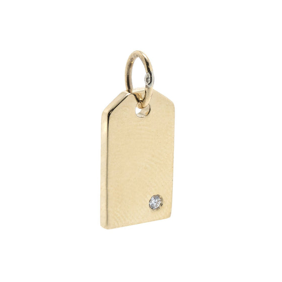 Tiffany & Co. 18k Gold Mini Tag Charm with Diamond Charms & Pendants Tiffany & Co.