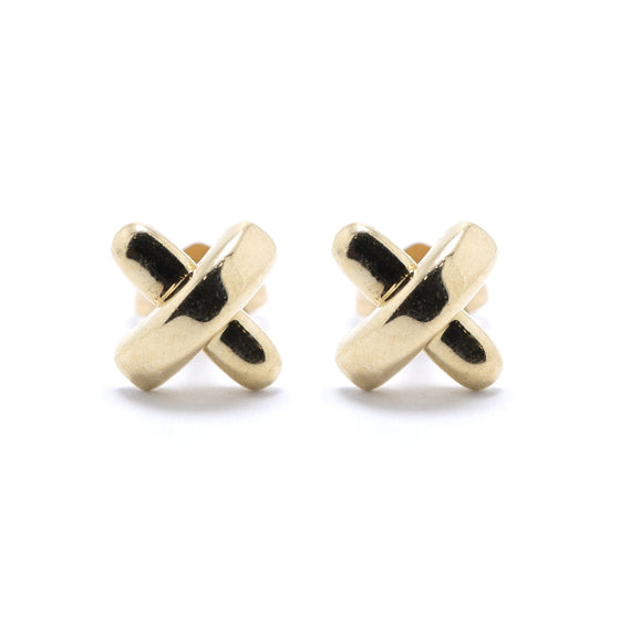 Tiffany & Co. 18k Gold Mini X Stud Earrings Earrings Tiffany & Co.