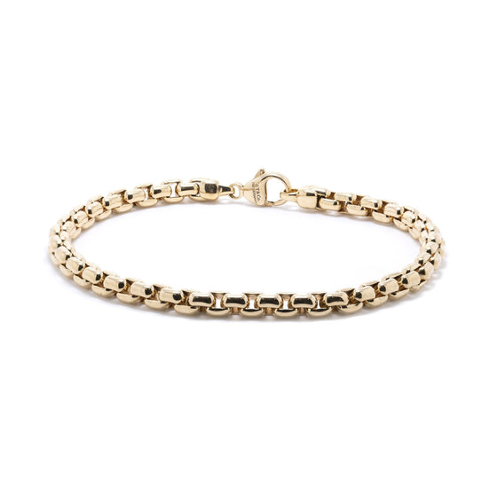 Tiffany & Co. 18k Gold Square Link Bracelet Men's Jewellery Tiffany & Co.