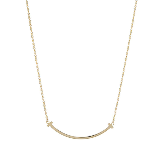 Tiffany & Co. 18k Gold T Smile Pendant Necklace Necklaces Tiffany & Co.