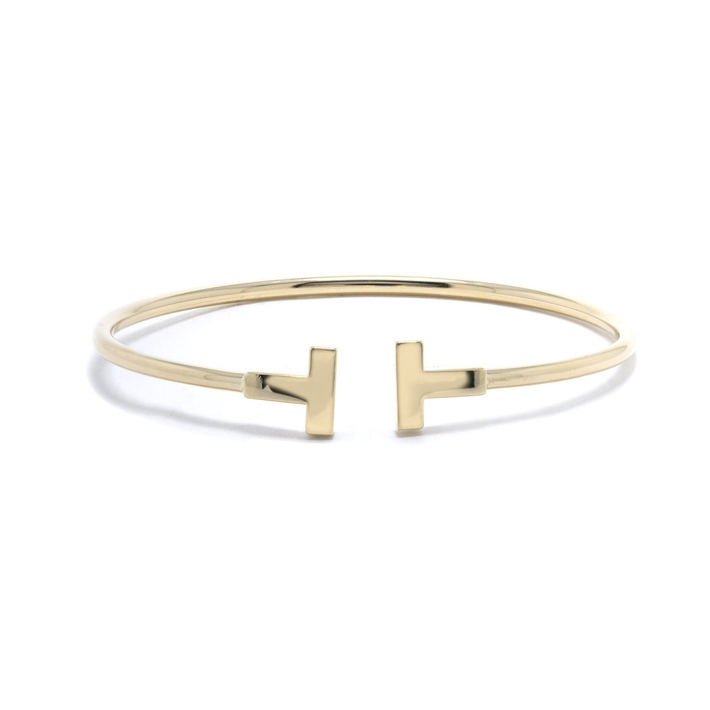 Tiffany & Co. 18k Gold T Wire Bracelet Bracelets Tiffany & Co.