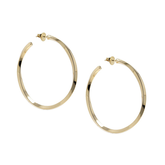Tiffany & Co. 18k Gold Twist Hoop Earrings Earrings Tiffany & Co.