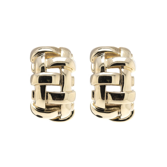 Tiffany & Co. 18k Gold Vanerie Basket Weave Earrings Earrings Tiffany & Co.